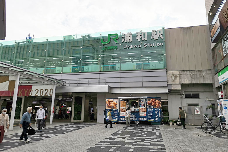 浦和駅東口にキッチンカーが日替わりで出店中です